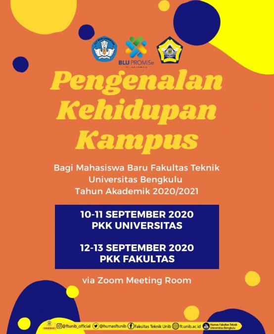 Pengenalan Kehidupan Kampus Mahasiswa Baru TA 2020/2021