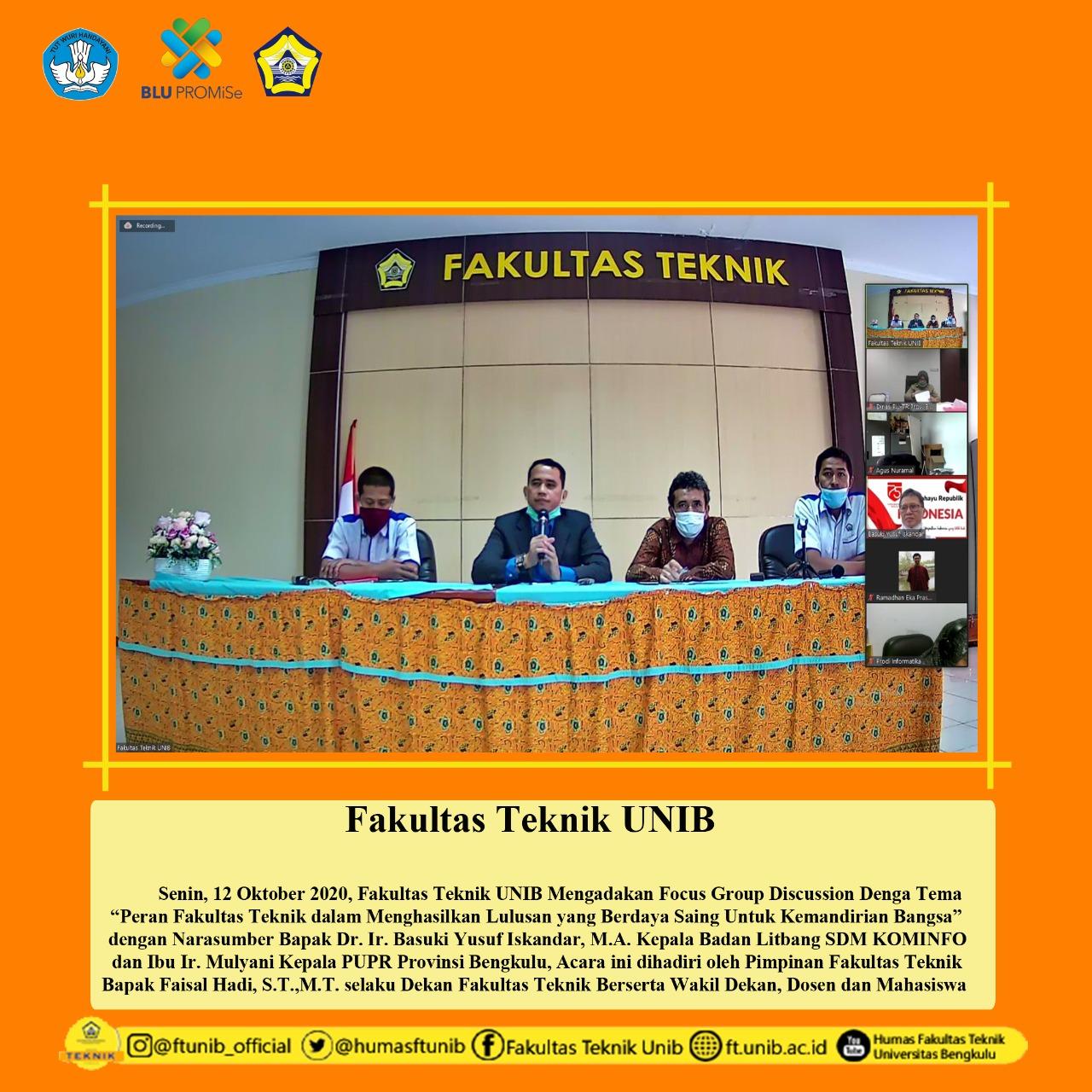 Fakultas Teknik Menyelenggarakan FGD Dengan Narasumber Dari Kominfo
