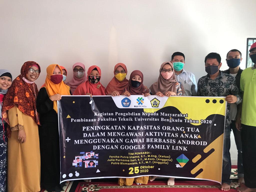 Pengabdian Kepada Masyarakat Fakultas Teknik UNIB Bersama Komunitas Blogger Bengkulu
