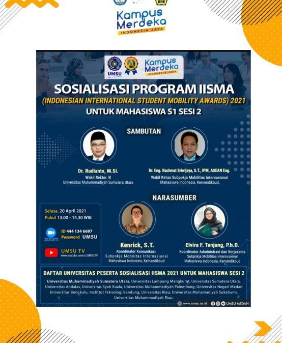 Sosialisasi Program IISMA (Indonesian International Student Mobility Awards) 2021