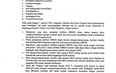 SURAT EDARAN TERKAIT PROGRAM MERDEKA BELAJAR KAMPUS MERDEKA (MBKM)