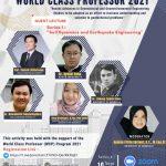 Kegiatan World Class Professor 2021 Fakultas Teknik Universitas Bengkulu