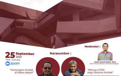 Webinar Nasional Prodi Arsitektur Fakultas Teknik UNIB Tahun 2021