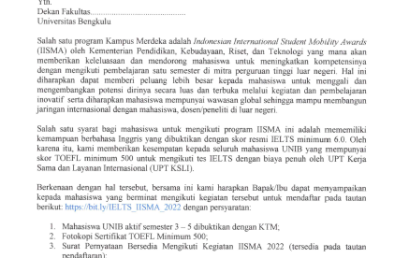 Bantuan Biaya Tes IELTS untuk Program IISMA 2022